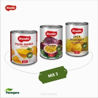 KOALA MEGA MIX3 Mango Alphonso Pulp 850 g - 1 pcs., Passion Fuit Pulp 565 g - 1 pcs. , Jack Fruit in sirup 565 g - 1 pcs.